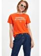 DeFacto Baskılı Kısa Kollu T-shirt Kırmızı